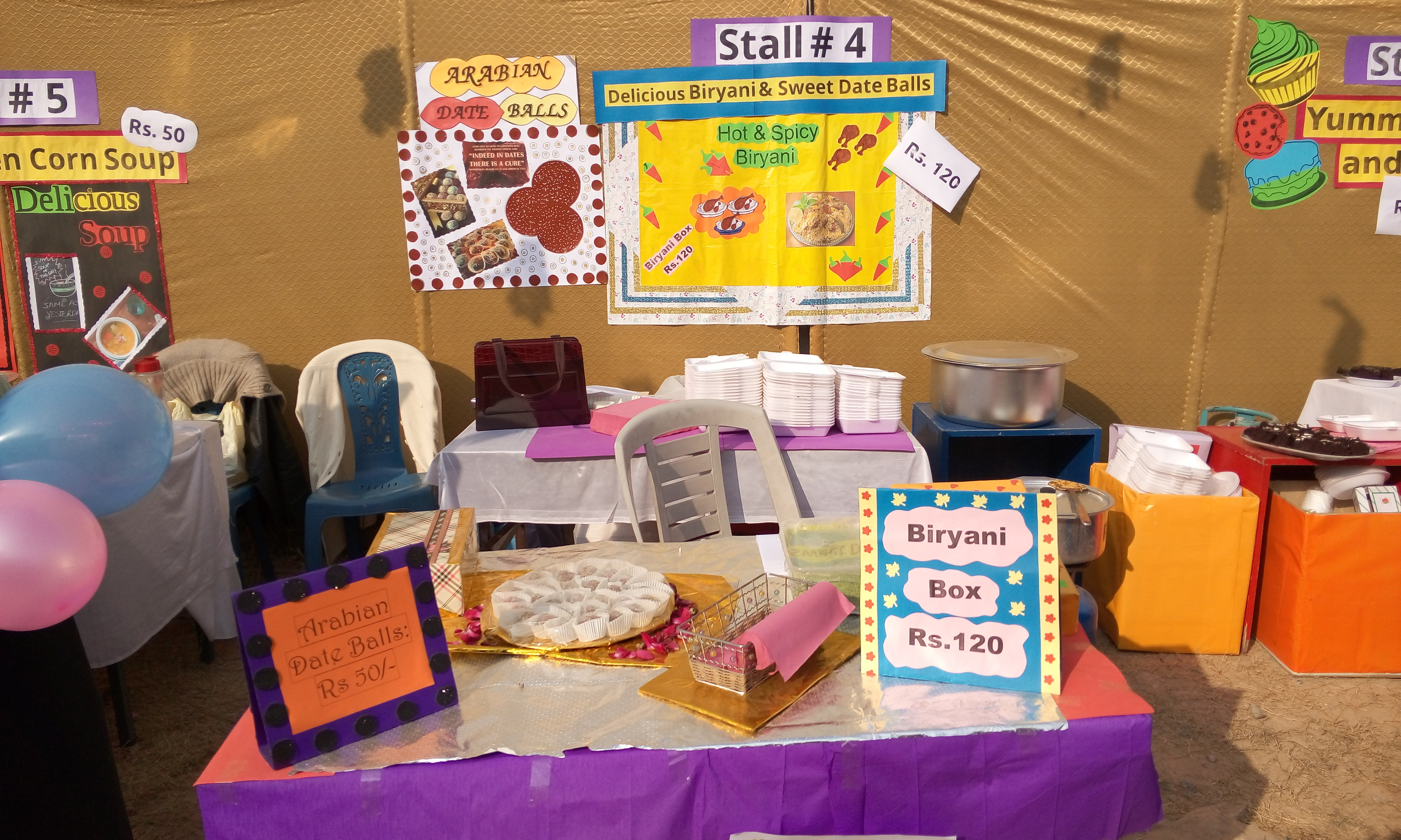 Stall 4 - Delicious Biryani & Sweet Date Balls