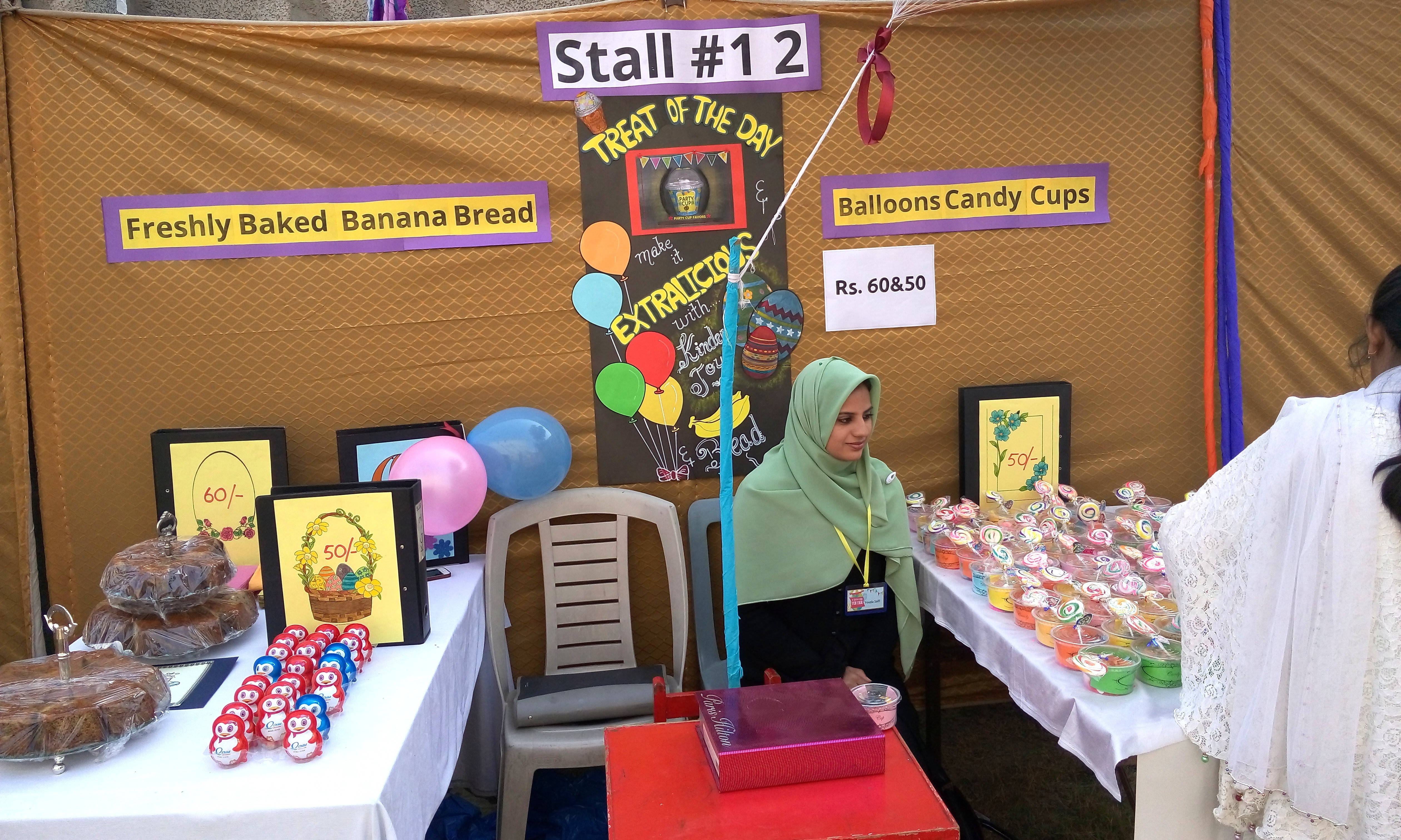 Stall 12 - Freshly Baked Banana Bread, Balloons & Candy Cups