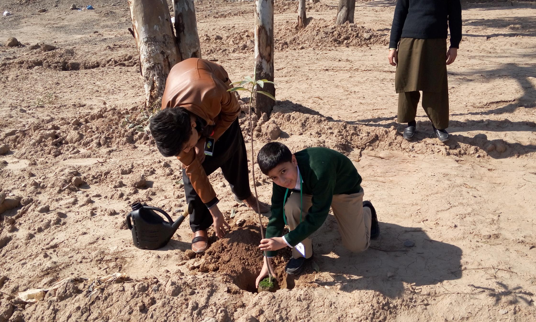 Plantation by Ayaan Ali Jahangir of Hifz Class