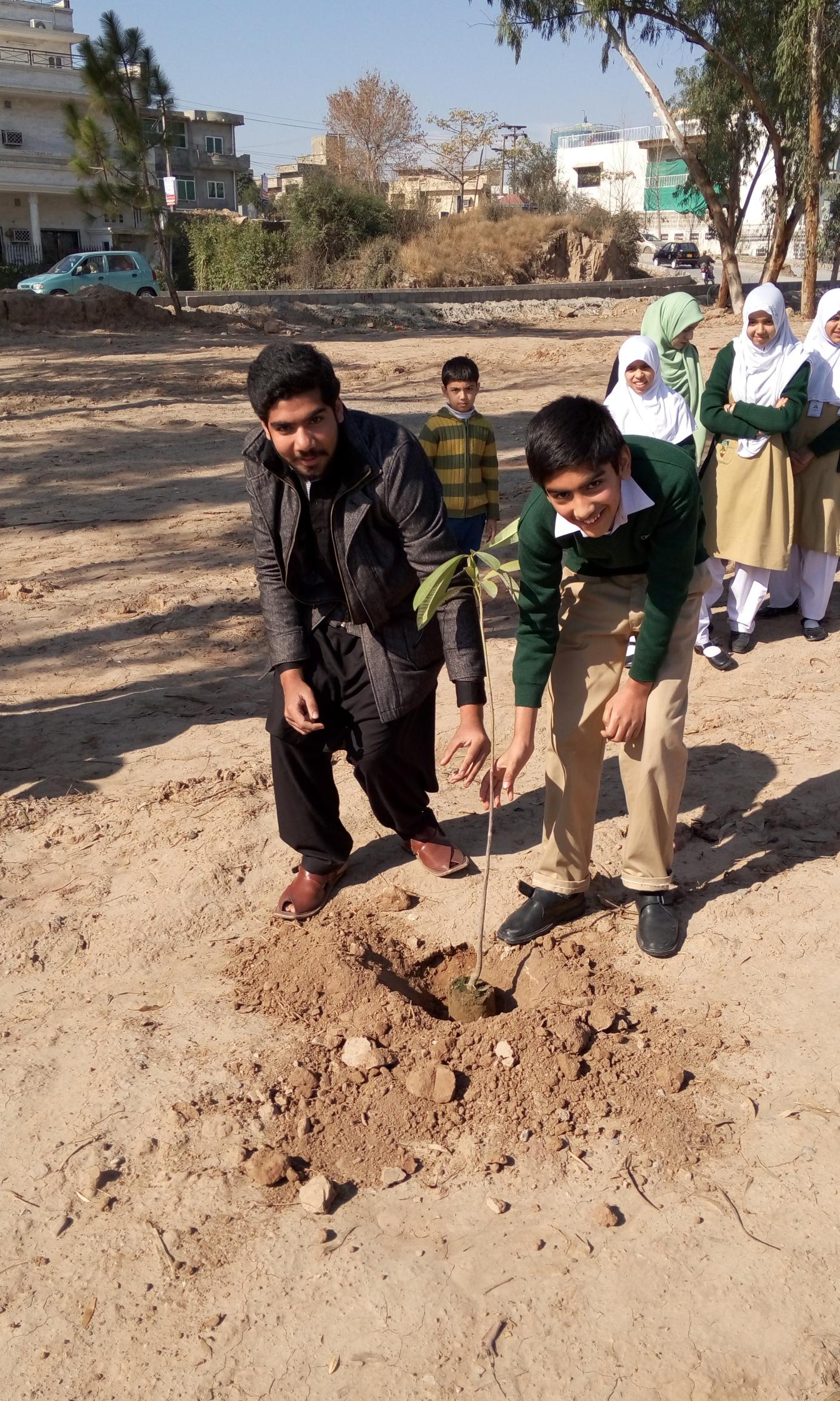 Plantation by Abdul Mateen of Hifz Class